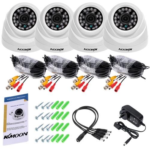KKmoon 4 * 960P AHD Haube IR CCTV Kamera + 4 * 60ft Überwachungskabel