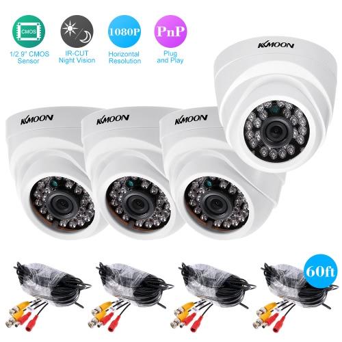 KKmoon  4*1080P AHD Dome IR CCTV Camera + 4*60ft Surveillance Cable