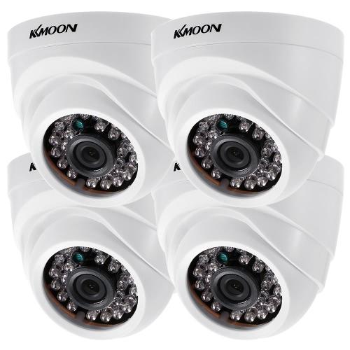 KKムーン4 * 1080P AHDドームIR CCTVカメラ+ 4 * 60フィートの監視ケーブル