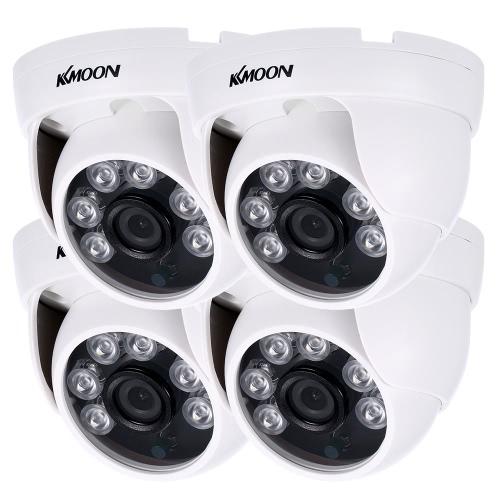 KKmoon 4 * 960P AHD Haube IR CCTV Kamera NTSC System + 4 * 60ft Überwachungskabel