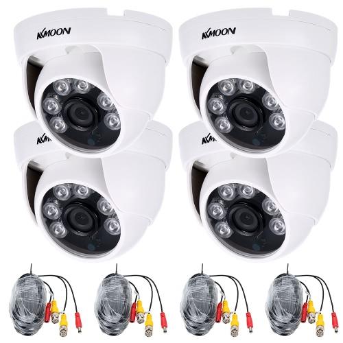 KKmoon 4 * 1080P 2000TVL AHD CCTV-Kamera + 4 * 60ft Überwachungskabel