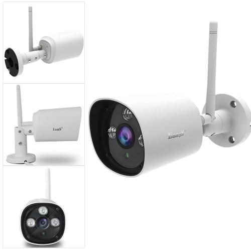 EasyN HD 720PメガピクセルワイヤレスワイファイIPクラウドカメラCCTV監視セキュリティネットワーク屋外屋内BulletカメラAndroid / iOS APPブラウザビューのP2PサポートOnvif耐候IRカットフィルタ赤外線ナイトビューモーション検出3ドットマトリックスLED