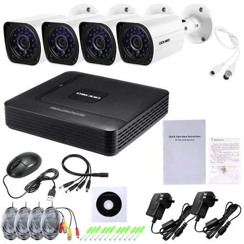 OWSOO 8CH 1080N DVR + 4pcs AHD 720P im Freienkugel CCTV-Kamera NTSC System