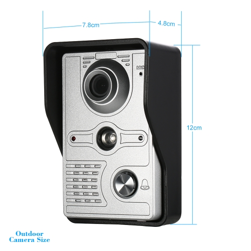 OWSOO 7 inch Wired Video Doorbell