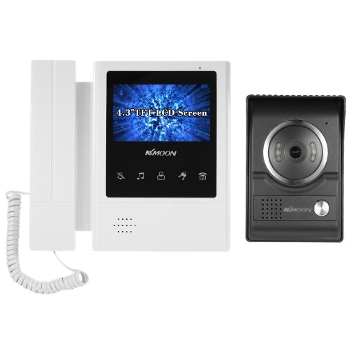 KKmoon 4.3 polegadas Wired Video Doorbell Visual Intercom