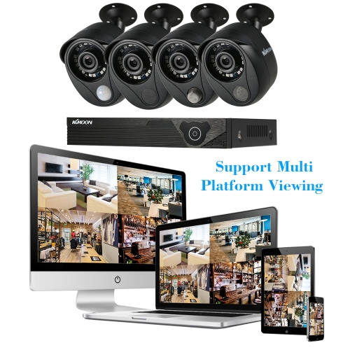KKmoon 4CH CCTV Security Surveillance System with Alarm System