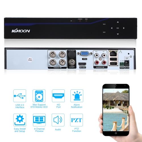 KKmoon 4CH H.264 5 in 1 4M-N AHD DVR Digital Video Recorder