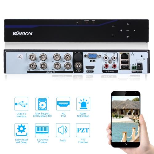 KKmoon 8CH Channel 5 in 1 4M-N AHD Touch Screen DVR Digital Video Recorder