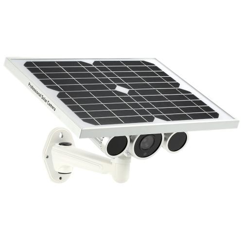 Câmera sem fio HD 1080P WiFi Solar & Bateria Bullet IP