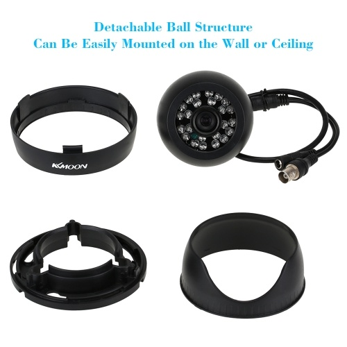 KKmoon 4PCS 720P CCTV Camera Security Kit + 4pcs 60ft Video Cable