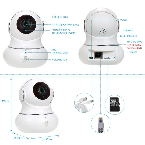 1080P Wireless WiFi IP camera Baby Monitor 3D Panorama Navigation