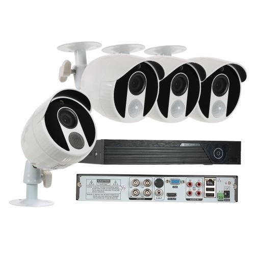 4CH 1080Nデジタルビデオレコーダー+ 3pcs 1080P AHDカメラ+ 1pcs 1080P AHDカメラ+ 4 * BNCコネクター