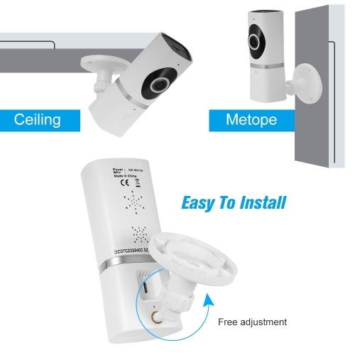 HD 720P Megapixels 185 Degree Wireless WiFi Network IP Camera
