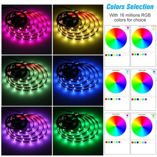 USB WIFI PC/TV Backlight Kit 2M 6.56ft RGB Light Strip LED Strip Lights