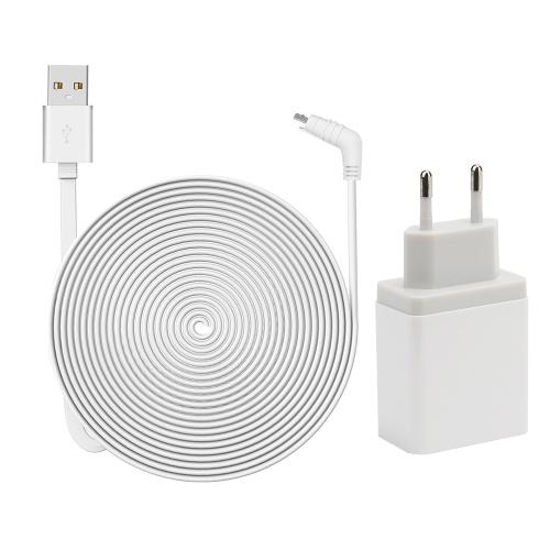 耐候性屋内/屋外フラットケーブルアルミ合金マイクロUSBケーブル充電/プラグ付き電源コード