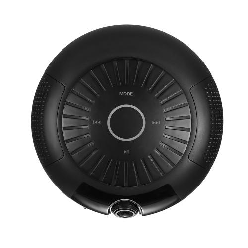 ワイヤレスホームセキュリティWiFi IPカメラ180度HD 1080P BTスピーカーミュージックプレーヤーナイトビジョンと双方向オーディオモーション検知サポートP2Pリモート音楽再生、黒