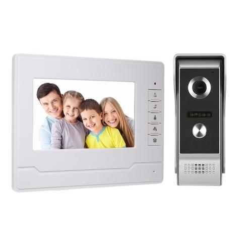 7インチTFT液晶カラースクリーンビデオドア電話