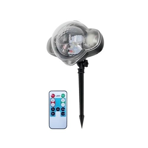 LED Mini Night Light Snow Projector Lawn Greensward Light