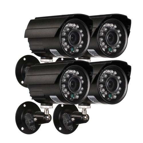 4*1080P AHD Waterproof IR CCTV Bullet Camera + 4*60ft Surveillance Cable
