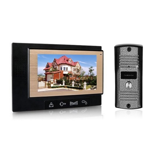 Home Security 7-inch LCD Color Video Door Phone Intercom System