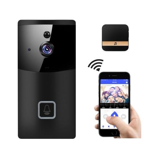 Campainha sem fio inteligente 2.4G WiFi, câmera de segurança 1080P HD WiFi com áudio bidirecional