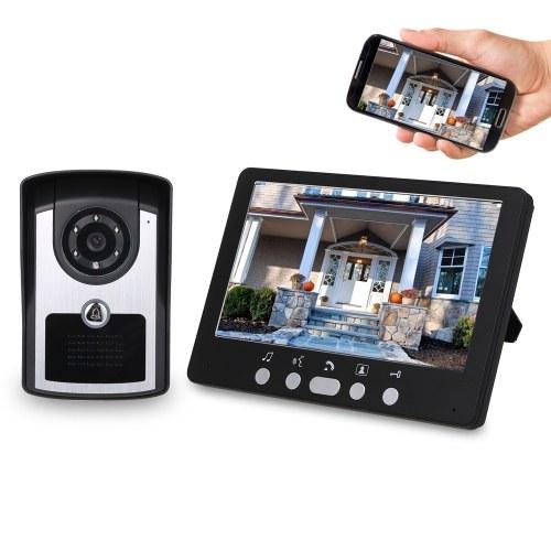 7 Zoll Monitor HD Kamera Video-Türsprechanlage Türklingel