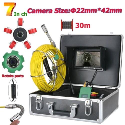 Cámara de video de inspección de tubería de 7 pulgadas y 22 mm