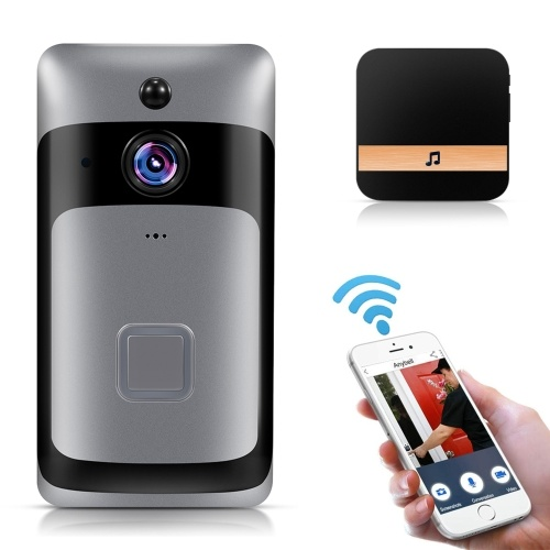 Smart Home WiFi Doorbell with Black Chime  EU Plug