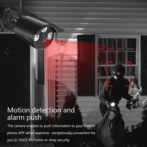 WiFi KITS 4CH NVR + 4pcs 1080P Weatherproof Bullet IP Camera with Metal Housing Body H.264 Compression 1080P Night Vision EU Plug