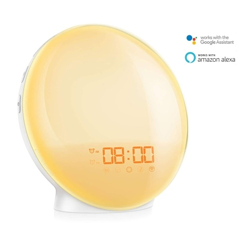 Intelligent SmartAPP Voice Control Wifi Alarm Clock