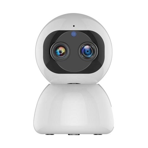 1080P WiFi Security Camera Dual-Lens Indoor Surveillance IP Camera