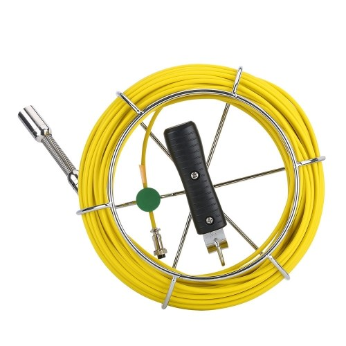 20M 22mm Pipe Inspection Video Camera 7 Inch Monitor with 8GB TF Card DVR Drain Pipe Sewer Inspection Camera System IP68 Waterproof 1000 TVL Camera with 6W LED Lights