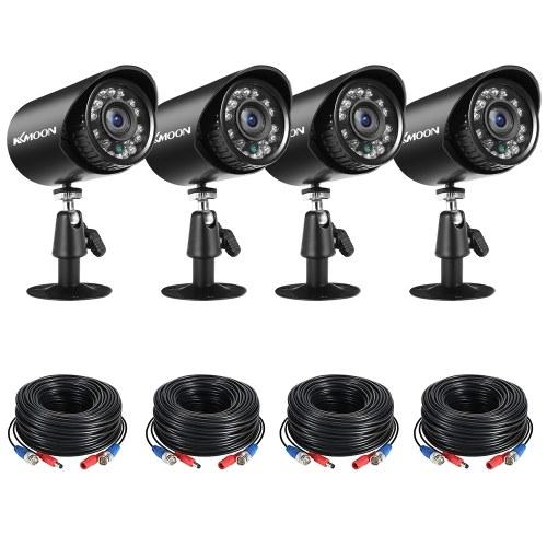 Аналоговые камеры безопасности 4шт Full HD 1080P 2MP