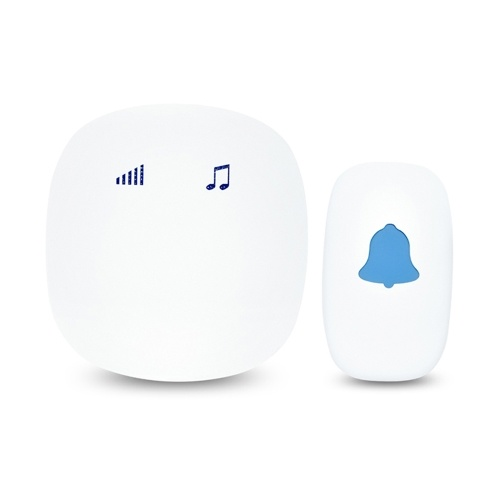 Wirelessly Sensitive Touching Doorbell with 35 Melodies 5 Levels Adjustable Volume Built-in Speaker 656Ft Long Transmission Distance for Home Daily Use Mini Portable