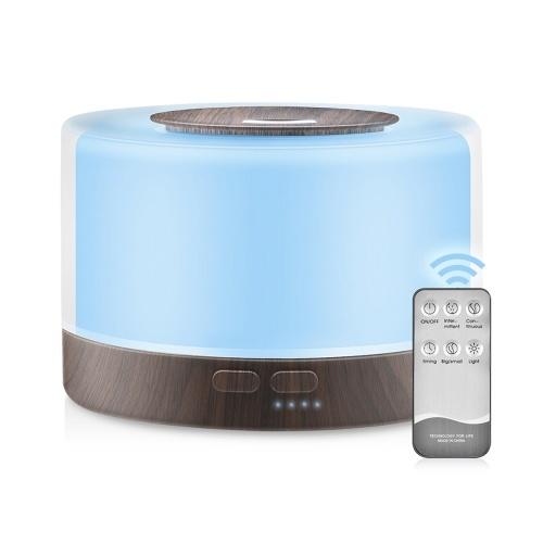 500ML Ultrasonic Air Humidifier Essential Oil Diffuser
