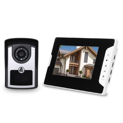 7 inch Monitor HD Camera Video Door Phone Doorbell Intercom System