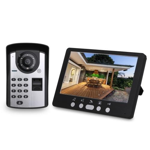 Fingerprint Password Remote Control HD Camera Video Door Phone Doorbell Intercom System