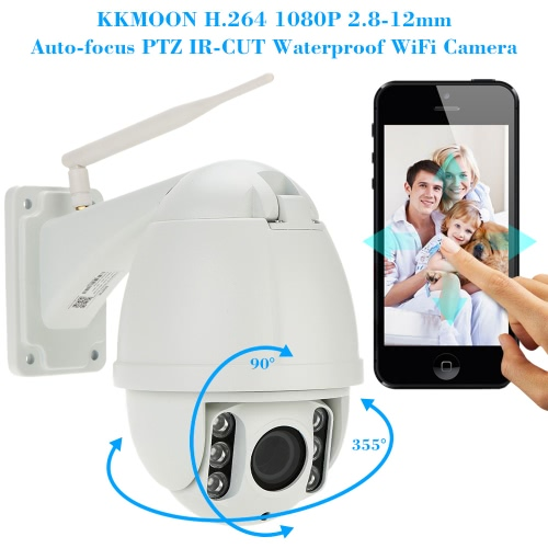 KKmoon h. 264 HD 1080P 2,8-12 mm Autofokus PTZ Wireless WiFi IP Kamera Security CCTV-Kamera-Startseite-Videoüberwachung