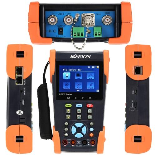 KKmoon 3,5 In LCD CCTV Kamera Tester Videomonitor PTZ/Tracer/DMM/TDR/VFL/IP Scan/Kabelschleuse blinken HVT-2623T