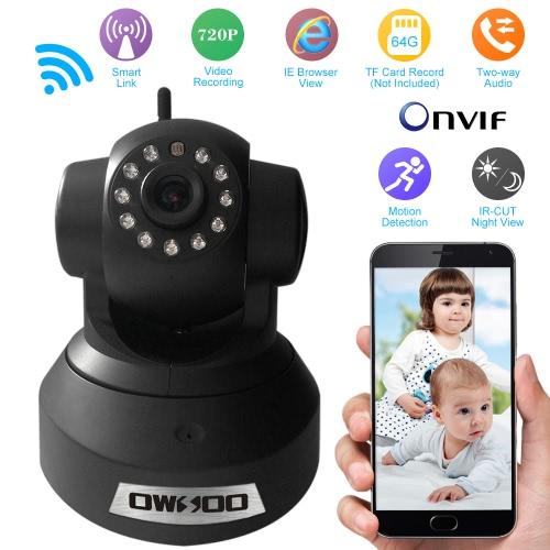 OWSOO HD h. 264 720p Überwachung IP Kamera Wireless-Wifi-CCTV Sicherheit Pan Tilt 2-Wege Audio Telefon Steuern Nacht Ansicht Unterstützung TF-Karte Onvif Motion Detection E-Mail Alarm TP-C617BT