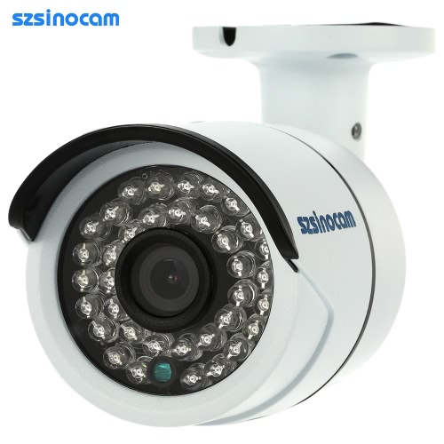 szsinocam HD Megapixels 720P Wireless Wifi Camera + 8G TF Card CCTV Surveillance Security P2P Network IP Cloud Indoor Outdoor Bullet Camera support Onvif2.4 Weatherproof IR-CUT Night View Motion Detection Email Alert Android/iOS APP Free CMS 36IR LEDs