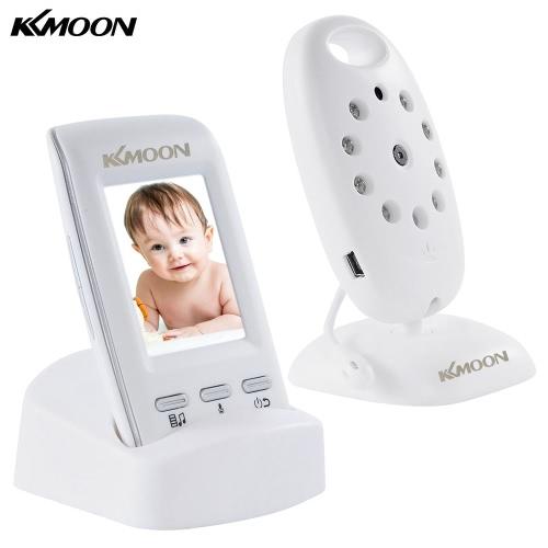 KKmoon® 2.0in 2.4GHz apoio câmera sem fio Baby Monitor + Auto Par Plug and Play 2-way conversa IR Night View Temperatura Música VOX bateria recarregável para Home Vigilância CCTV Segurança