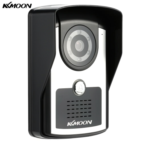 KKmoon HD 720P Megapixels Wireless WiFi Door Phone Visual Intercom Doorbell + 4G SD Card support P2P Android/iOS APP Snapshot Unlock Infrared Night View Rainproof Motion Detection Email Alarm Adjustable View Angle for Home Surveillance