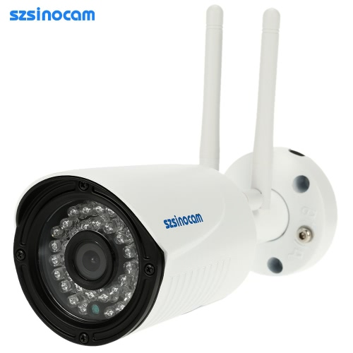 szsinocam Full HD 2.0MP Megapixels 1080P 2.4G/5.8G Wireless Wifi Camera CCTV Surveillance Security P2P Network IP Cloud Indoor Outdoor Bullet Camera support Onvif2.4 Weatherproof IR-CUT Filter Infrared Night View Motion Detection Email Alarm Android/iOS APP Free CMS 36LED