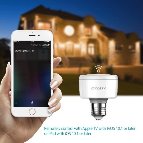 Koogeek Wi-Fi Enabled Smart Socket E27 Light Bulb Adapter Works with Apple HomeKit