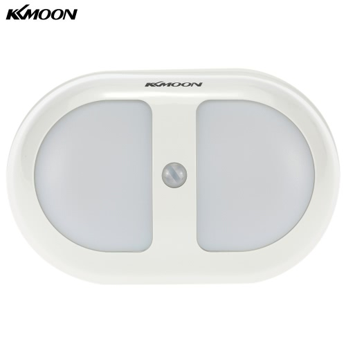 KKmoon  Portable 10 LED PIR Human Motion Induction Detector Light  Wireless Bedroom Passage Wall Night Lamp White Light