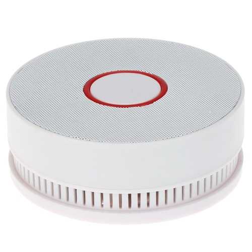 High Sensitive Wireless Photoelectric Smoke Sensor Fire Alert Detector Battery-Operated For Alarm Security System