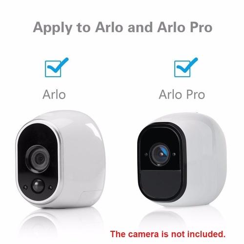 3pcs Metal Security Wall Indoor Outdoor Adjustable Mount Wall/Ceiling Security Bracket for Arlo or Arlo Pro Camera Cam