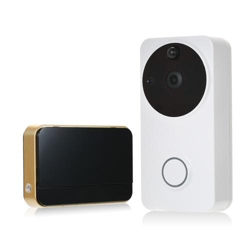 Campainha video audio visual da porta do intercomunicador de 720P WiFi 2-way