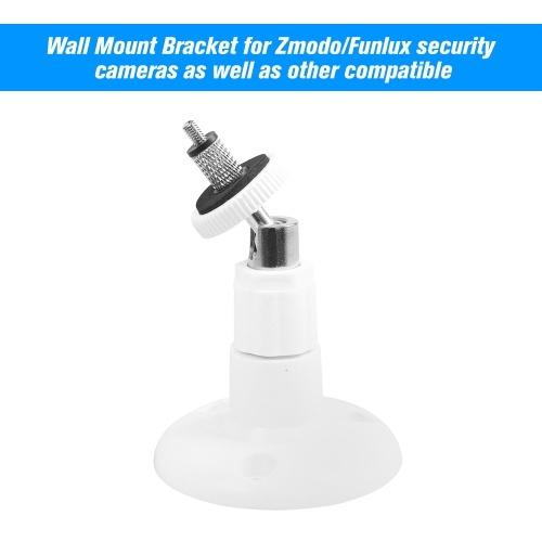 Paquete de 1 soporte ajustable Soporte de seguridad para techo de mesa de pared para cámara Zmodo / Funlux, blanco